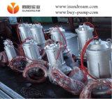 Вертикальный электрический полупогружном судне сточных вод насос с направляющей и автоматическое соединение