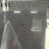 Laje cinzenta artificial da pedra de quartzo do espelho