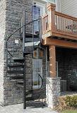Escaleras circulares elegantes modernas de DIY/escalera al aire libre/escaleras espirales