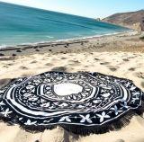 Хлопок напечатано солнцезащитная шторка полотенце Cappa шарфом круг пляж полотенце