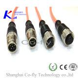 Conector de cable eléctrico terminal impermeable femenino del Pin M8 6 del RF