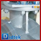 Valvola a farfalla eccentrica triplice della saldatura dell'acciaio di getto di Didtek Wcb