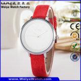 Reloj de las señoras de la manera del cuarzo de la correa de cuero del servicio de encargo (Wy-085B)
