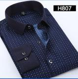 Impression formelle de chemise d'affaires de long coton de la chemise des hommes occasionnels de chemises