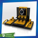 Escaparate de la visualización del reloj del precio de fábrica, caso de visualización del reloj de la tapa contraria