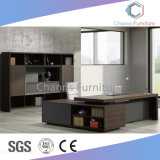 Modernes dunkles graues Büro-Schreibtisch-leeres Anfangsetikett (CAS-ED31408)