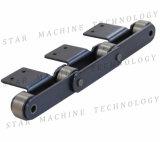 Transportador de rodillos de P100 de la cadena con mayor altura de la placa de curvos de K2