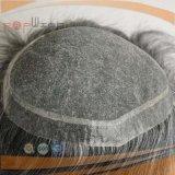 Toupee dianteiro cinzento do AA do cabelo humano (PPG-l-01909)