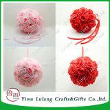 ローズの絹の花の接吻の球の大きいハングの球のクリスマスの結婚式