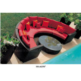 熱い販売の速い乾燥した泡のクッションが付いている柳細工の庭の家具