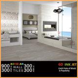 300X900mm neuer Entwurfs-Tintenstrahl glasig-glänzende keramische Wand-Innenfliese