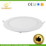 Slim Panel LED 6W 9W 15W luz del panel de ronda