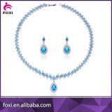 Women Party를 위한 고급장교 CZ White Gold Gemstone Jewelry Sets