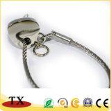 Catena chiave di figura del cuore dell'anello portachiavi del metallo di favore di cerimonia nuziale del regalo del ricordo