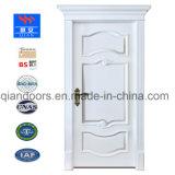 Couleur blanc de style européen de l'intérieur de porte en bois massif Foshan Factory
