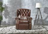 2018 새로운 호화스러운 Chesterfiled 안락 의자 진짜 가죽 의자