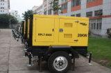 Truck-Mounted 15m de mástil neumática de 6 piezas de 1000W Lámpara de halogenuros metálicos de 20kw generador diesel de la TORRE DE LUZ MÓVIL