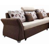 Sofa en forme de L de tissu de modèle moderne avec la grande mémoire