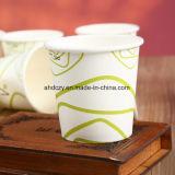 Taza de papel grabada 4oz barata de la venta directa de la fábrica para beber