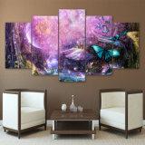 [هد] طبع 5 قطعة جدار صور لأنّ يعيش غرفة حديثة مخدّرة خفيفة جدار فن ملصقات وأطباق