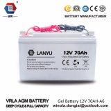 Batteria del gel sigillata terminale anteriore di VRLA per la batteria al piombo dell'UPS 12V 70ah