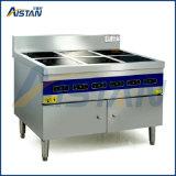 Venda quente seis queimadores fogão fogão de indução Restaurante Comercial/Seis cabeça panela de barro