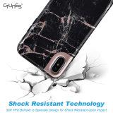 Caja de mármol para el caso del iPhone X, caso de parachoques del teléfono de Shockpoof de la contraportada TPU de IMD de la PC lisa delgada de mármol del diseño para el iPhone X
