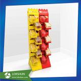 Expositor de suelo, Estante de cartón de chocolate