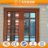 Le guichet en aluminium de tissu pour rideaux de constructeur de Foshan avec le double a glacé