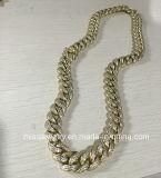 Collar simple del oro del saudí de Hip Hop 18kgp para los hombres
