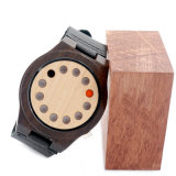 La madera de Nutural de la alta calidad hizo el reloj de los hombres