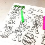 아이를 위한 창조적인 음식 급료 실리콘 테이블 매트 그림 매트 실리콘 아기 Placemat