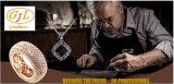 فضة مجوهرات أنيق حجر كريم رجال نساء [يلّوو غلد] صفّح نمط مجوهرات