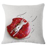 かわいい犬の綿のリネンデジタルによって印刷される投球枕箱(35C0181)