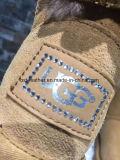 Doubles gaines de Kangrougg de basane de face pour des femmes en sable