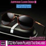 8722 homens Sapo óculos polarizados de moda
