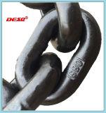 Catena di sollevamento nera del caricamento dell'acciaio legato G80