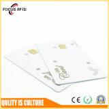 Carte à puce estampée par soie en plastique de Conact IC d'IDENTIFICATION RF pour les affaires Sle4428/Sle5528