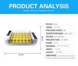 Hhd spätestes vorbildliches automatisches, 24 Huhn-Ei-Inkubator drehend