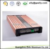 Radiador de alumínio anodizado costume da alta qualidade para o carro Amplifer