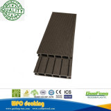 Decking compuesto plástico de madera del uso al aire libre hueco favorable al medio ambiente (K30*140mm)