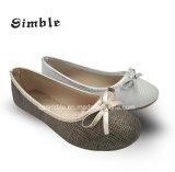 Простой стиль повседневный PU Ballerina обувь с мягкой подошва