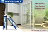 puate d'étanchéité adhésive des silicones 300ml pour la porte en verre de guichet d'automobile/véhicule