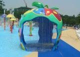 Fiberglass Apple Shower Water spray Amusement park equipment
