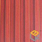 Papel impregnado melamina decorativa de madera roja del grano de la sandalia para los muebles, la puerta y el suelo del fabricante chino