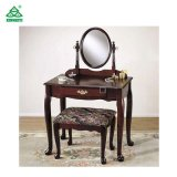 Lijst van de Make-up van de Stijl van het Meubilair van de Toilettafel van de slaapkamer de Elegante met Spiegel