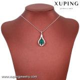 43214 Xuping Bisutería rosa y las mujeres hermosas joyas collar hecho con cristales de Swarovski