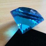남옥 파랑 큰 수정같은 유리 다이아몬드 문진 결혼식을%s 장식적인 다이아몬드 훈장