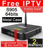 L'IPTV gratuite Android TV Box 2 Go de RAM avec boîtier en métal