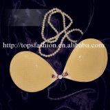 Runde Form-Silikon drücken reizvollen nahtlosen Büstenhalter der Frauen hoch